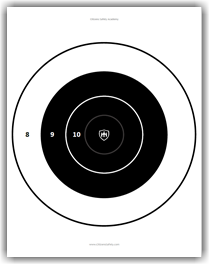 photo about Nra B-8 Target Printable called Aims Drills Inhabitants Protection Academy